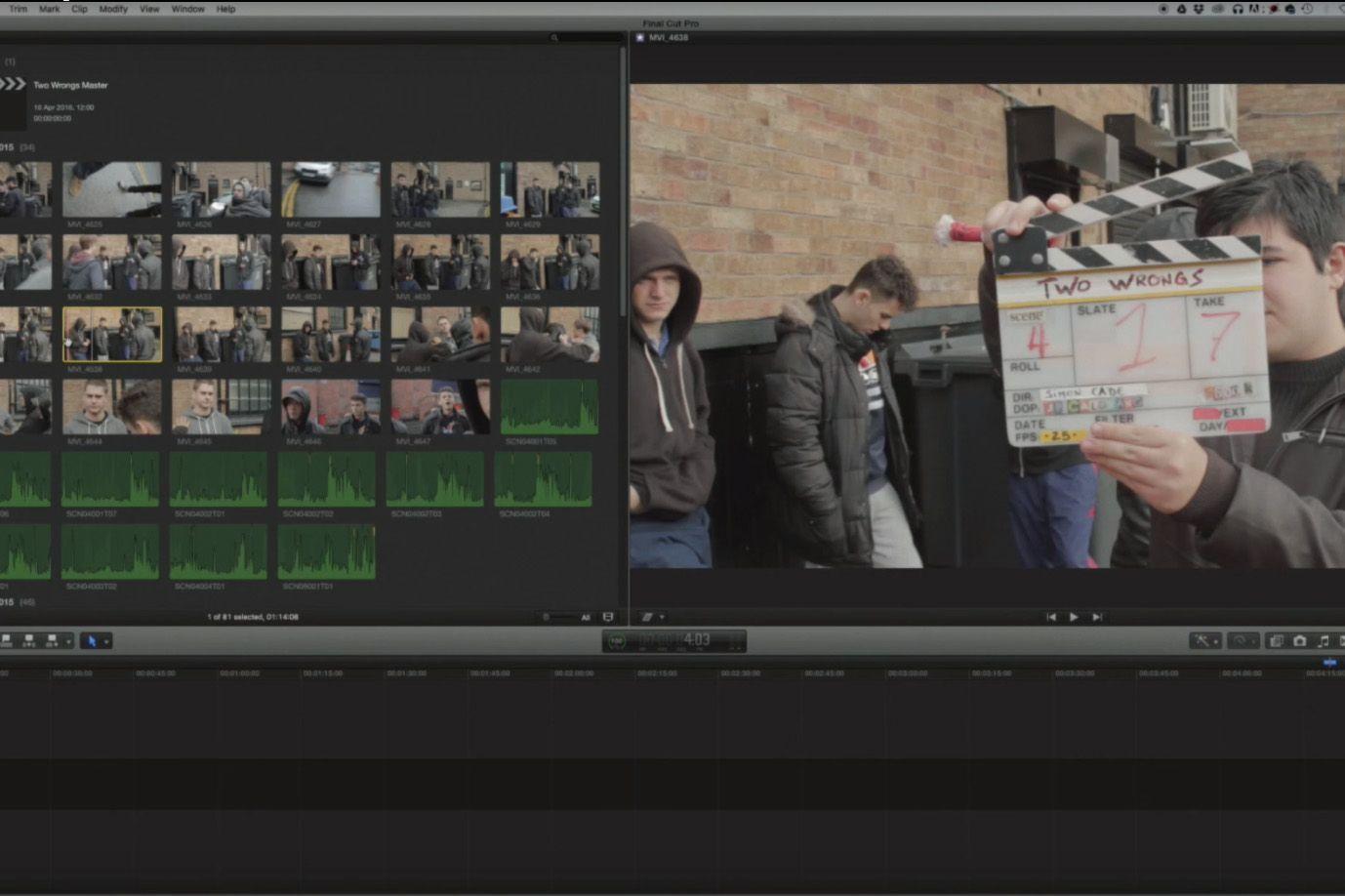 Flujo de trabajo en edicion de videos
